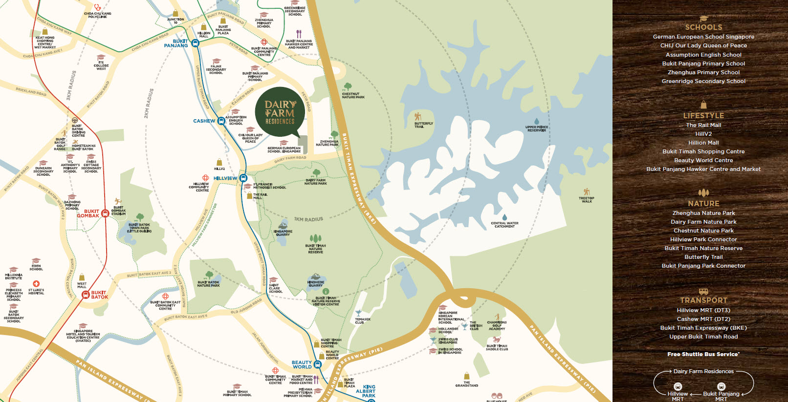 Dairy Farm Residences Location Map